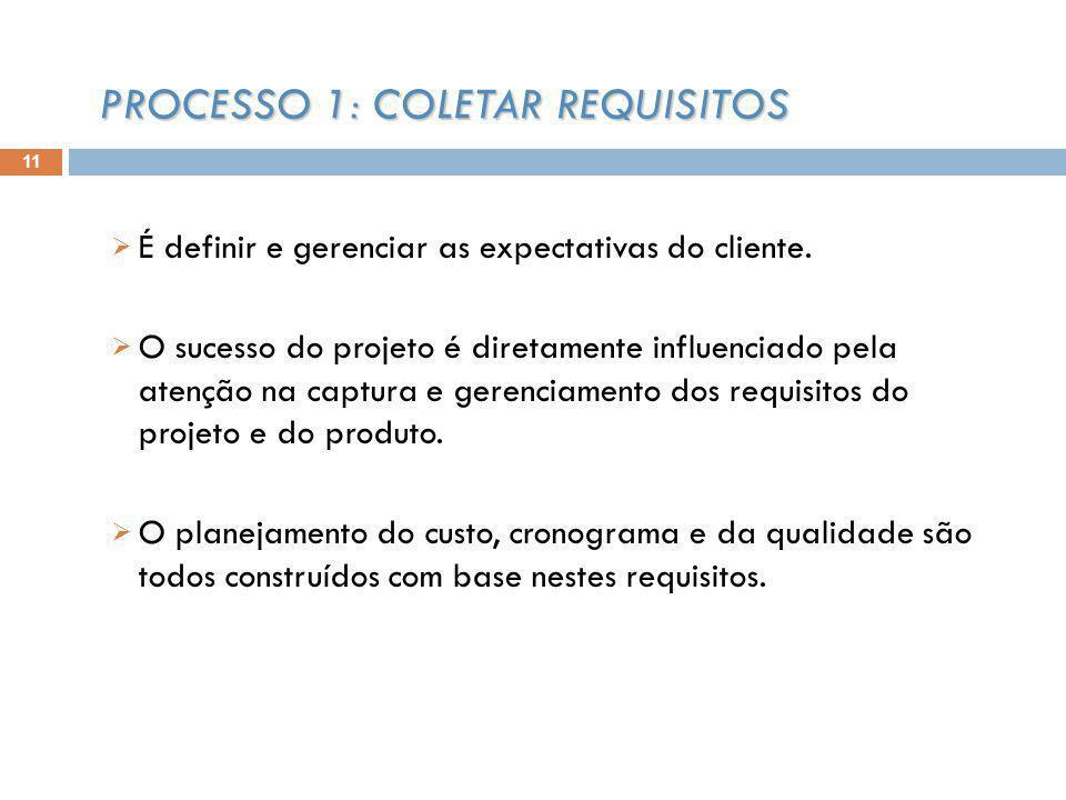 É definir e gerenciar as expectativas do cliente. O sucesso do projeto é diretamente influenciado pela atenção na captura e gerenciamento dos requisit