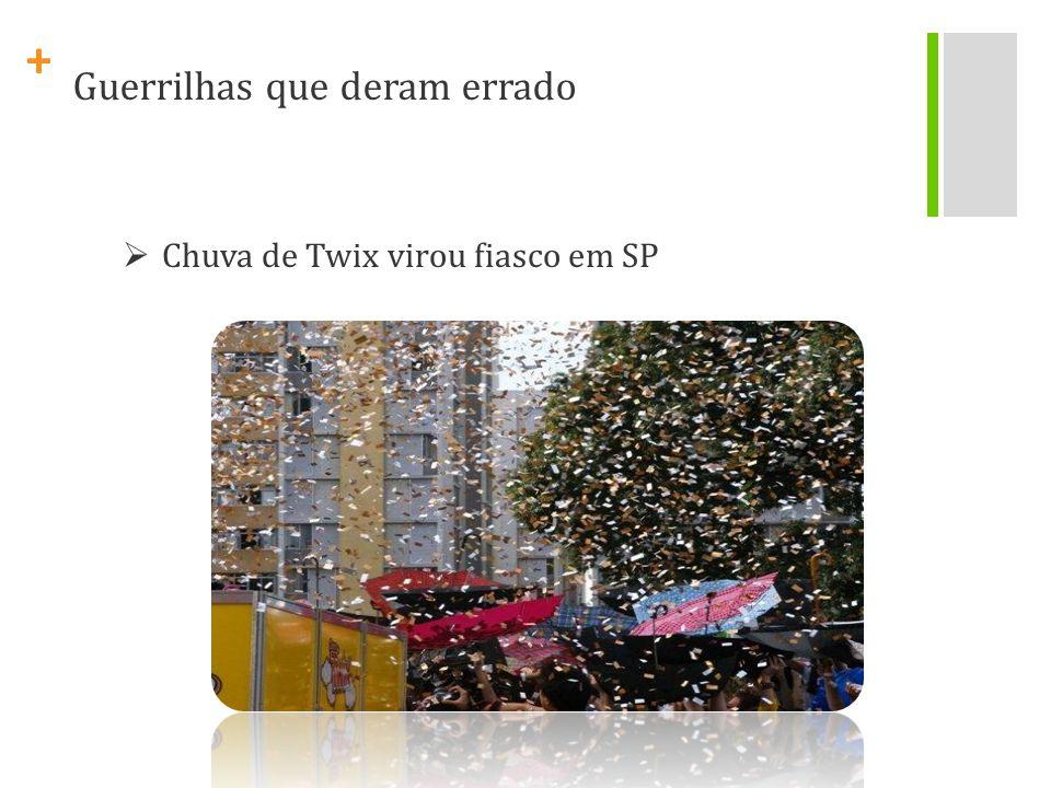 + Chuva de Twix virou fiasco em SP