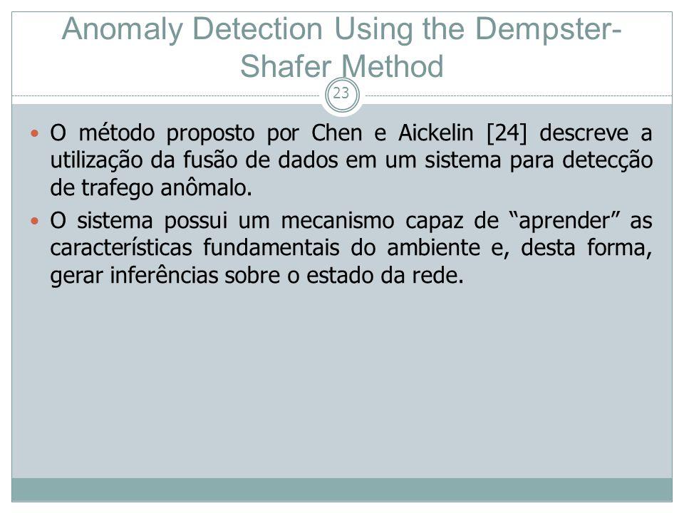23 O método proposto por Chen e Aickelin [24] descreve a utilização da fusão de dados em um sistema para detecção de trafego anômalo. O sistema possui