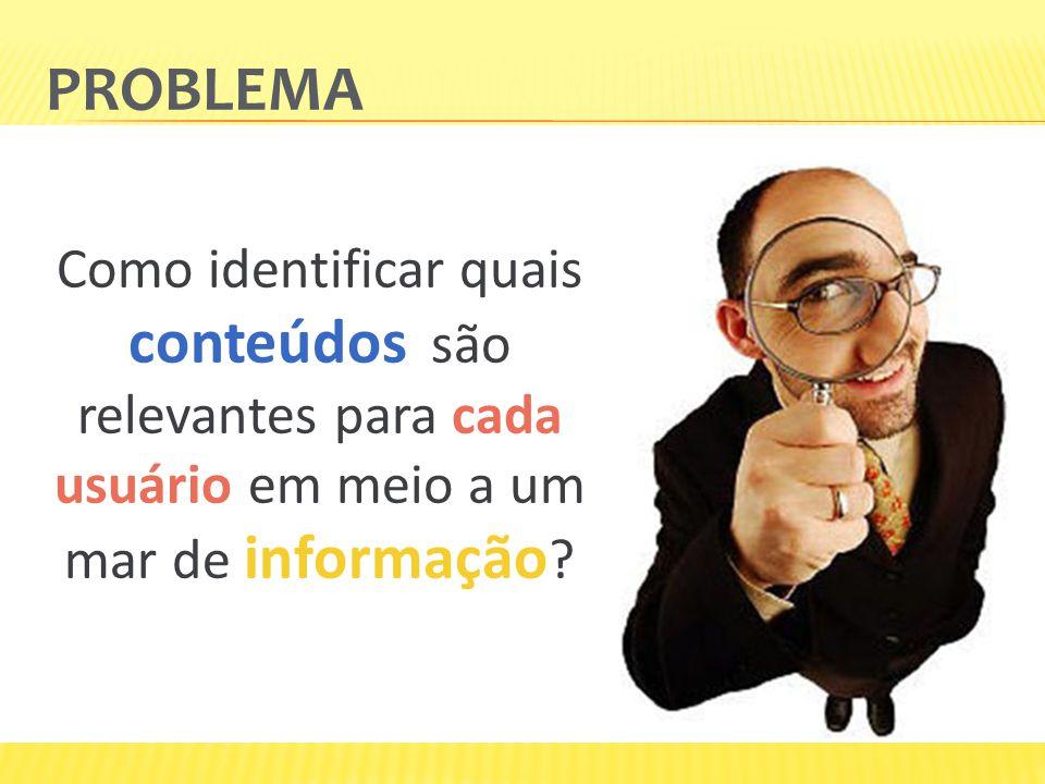 PROBLEMA Como identificar quais conteúdos são relevantes para cada usuário em meio a um mar de informação ?