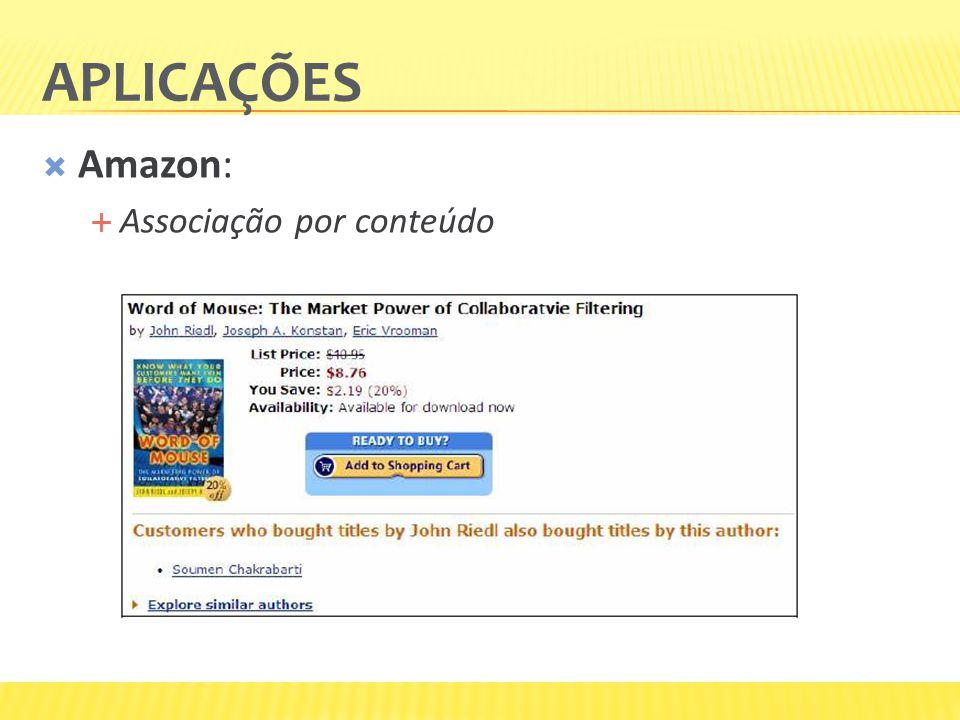 APLICAÇÕES Amazon: Associação por conteúdo
