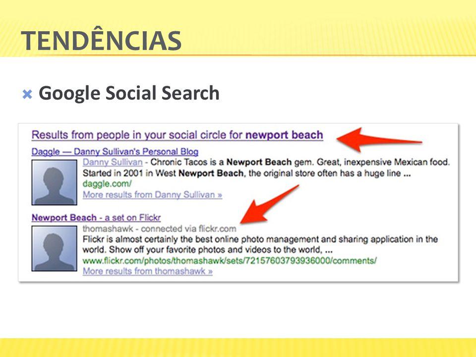 TENDÊNCIAS Google Social Search