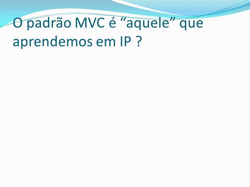 O padrão MVC é aquele que aprendemos em IP ?