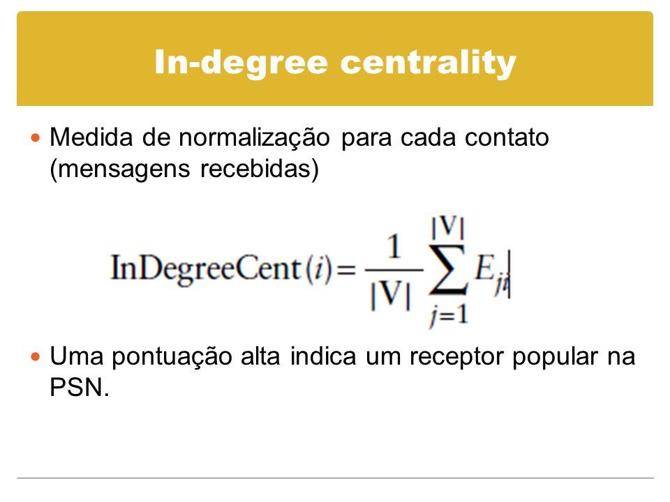 Features Características básicas From, To, Título, CC, corpo da mensagem Representadas por um vetor em cada mensagem Subvetor de m-dimensões