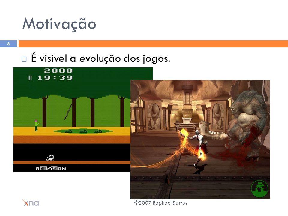 Motivação É visível a evolução dos jogos. ©2007 Raphael Barros 3