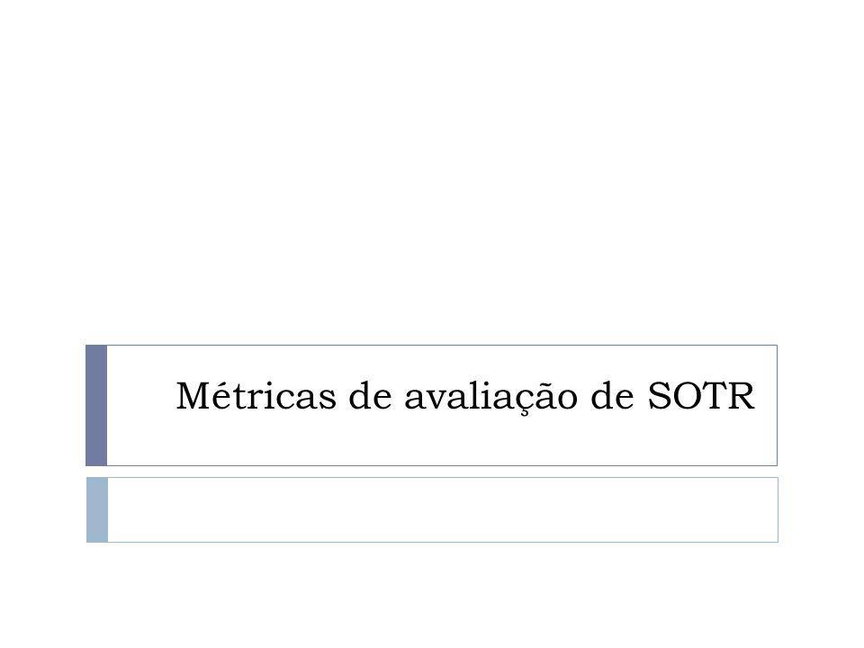 Métricas de avaliação de SOTR