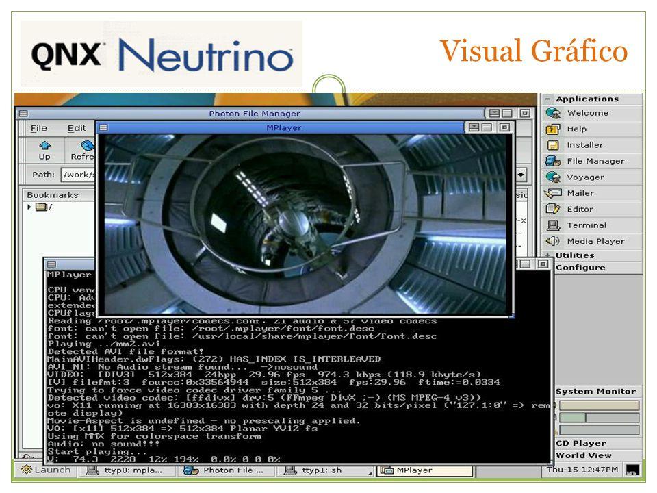 Referências QNX Software Sysmtems http://www.qnx.com http://www.qnx.com/products/neutrino_rtos/# http://www.qnx.com/products/neutrino_rtos/secure_kernel.
