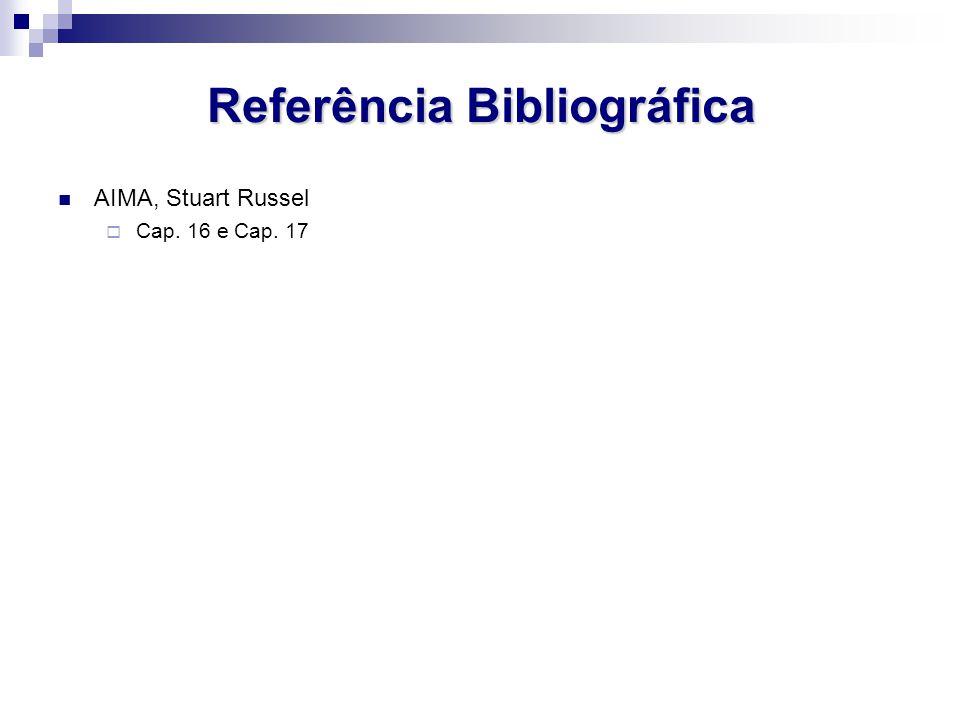 Referência Bibliográfica AIMA, Stuart Russel Cap. 16 e Cap. 17