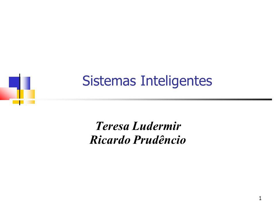 1 Sistemas Inteligentes Teresa Ludermir Ricardo Prudêncio