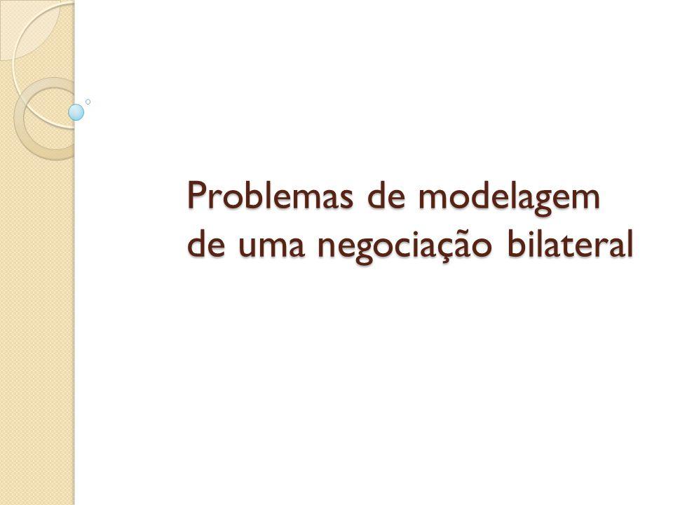 Problemas de modelagem de uma negociação bilateral