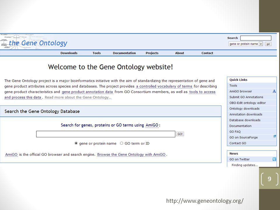 9 http://www.geneontology.org/