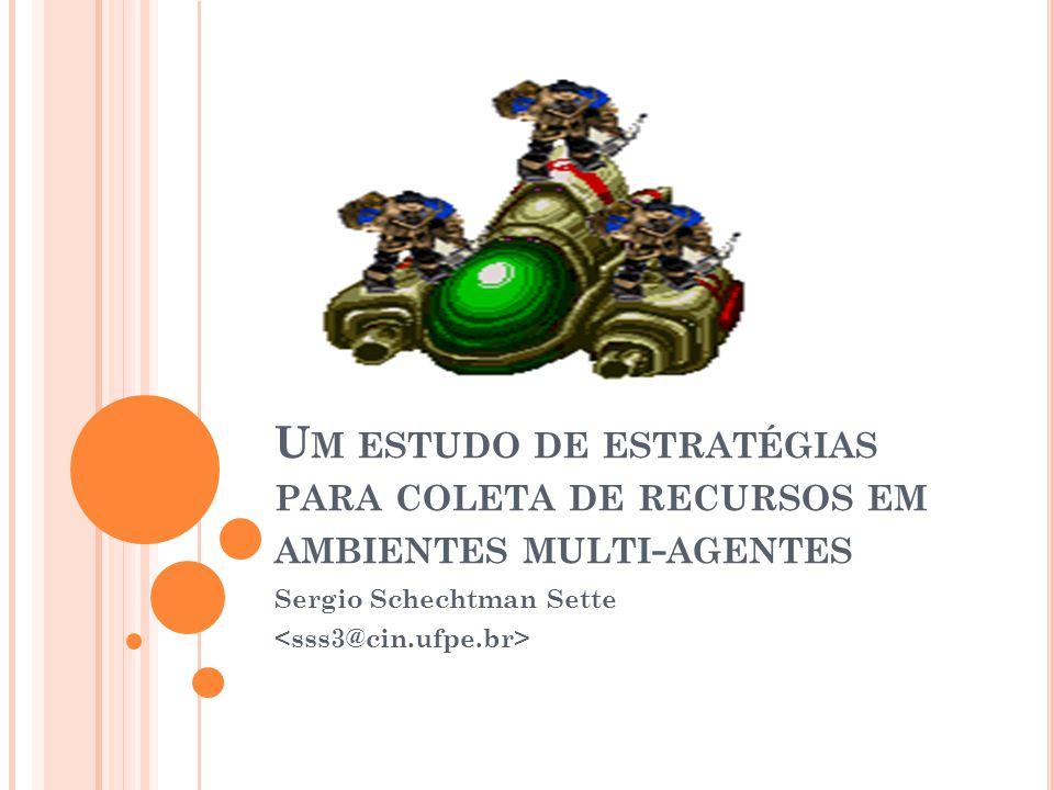 E STRATÉGIA P ROPOSTA ( CONT ) Agente Explorador (Scout) Procura as minas menos visitadas Atualiza com peso Máquina de estados