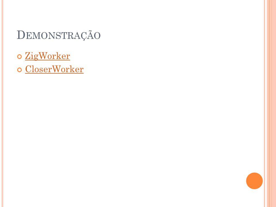 D EMONSTRAÇÃO ZigWorker CloserWorker