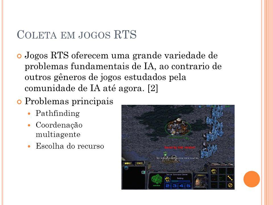C OLETA EM JOGOS RTS Jogos RTS oferecem uma grande variedade de problemas fundamentais de IA, ao contrario de outros gêneros de jogos estudados pela comunidade de IA até agora.