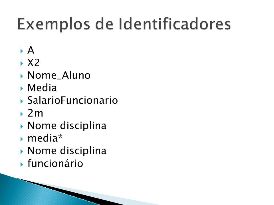 A X2 Nome_Aluno Media SalarioFuncionario 2m Nome disciplina media* Nome disciplina funcionário