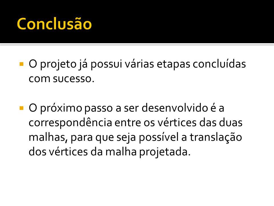 O projeto já possui várias etapas concluídas com sucesso.