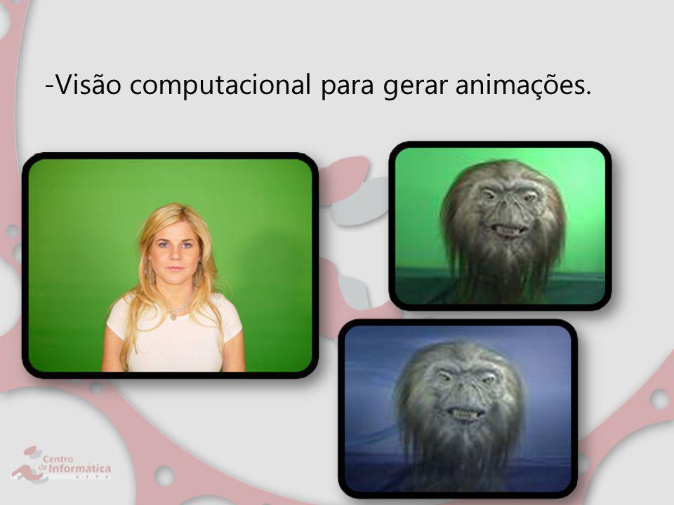 -Visão computacional para gerar animações.