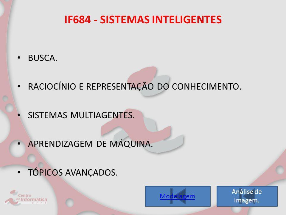 IF684 - SISTEMAS INTELIGENTES BUSCA. RACIOCÍNIO E REPRESENTAÇÃO DO CONHECIMENTO. SISTEMAS MULTIAGENTES. APRENDIZAGEM DE MÁQUINA. TÓPICOS AVANÇADOS. An
