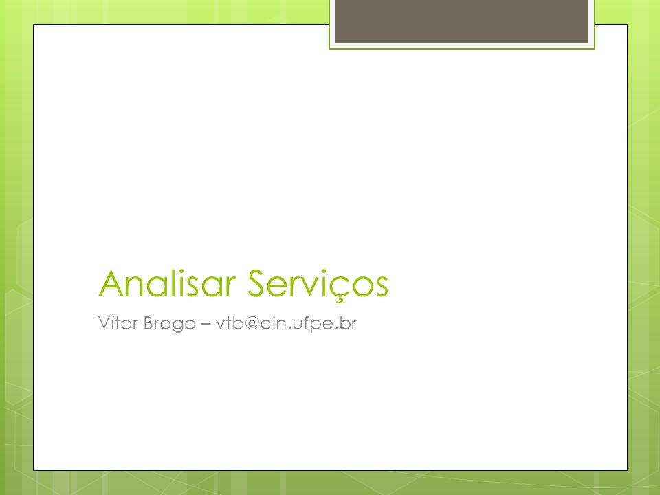 Analisar Serviços Vítor Braga – vtb@cin.ufpe.br