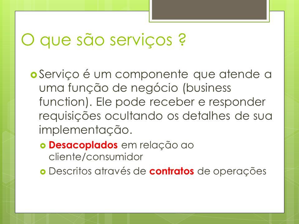 O que são serviços .