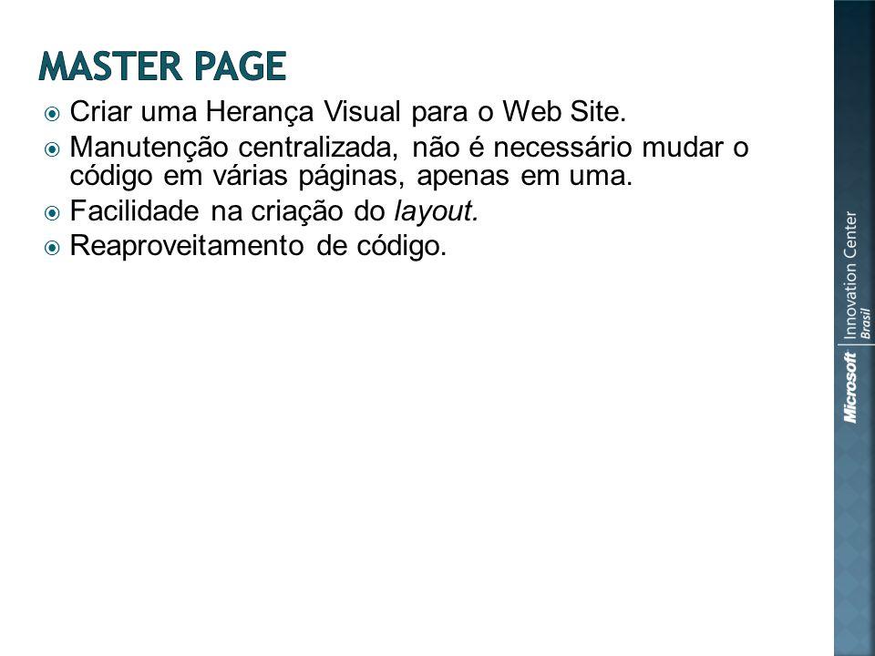 Criar uma Herança Visual para o Web Site.