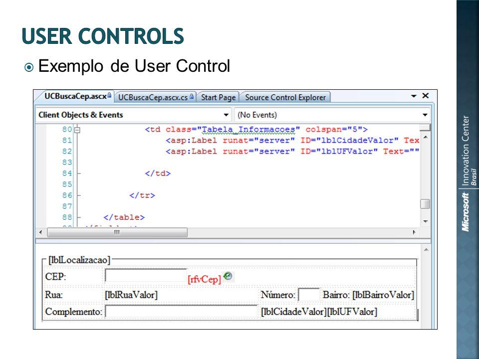 Exemplo de User Control