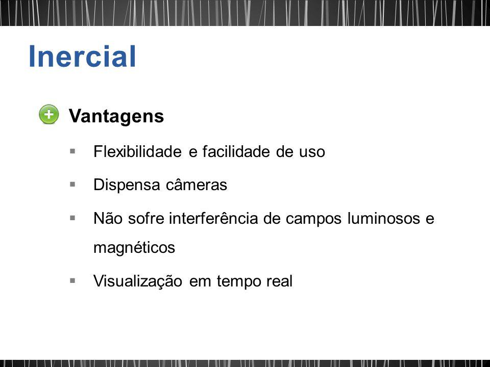 Vantagens Flexibilidade e facilidade de uso Dispensa câmeras Não sofre interferência de campos luminosos e magnéticos Visualização em tempo real