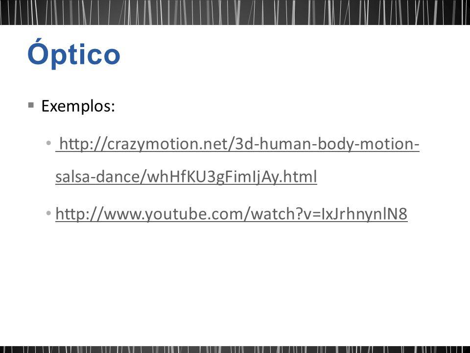 Exemplos: http://crazymotion.net/3d-human-body-motion- salsa-dance/whHfKU3gFimIjAy.html http://crazymotion.net/3d-human-body-motion- salsa-dance/whHfK