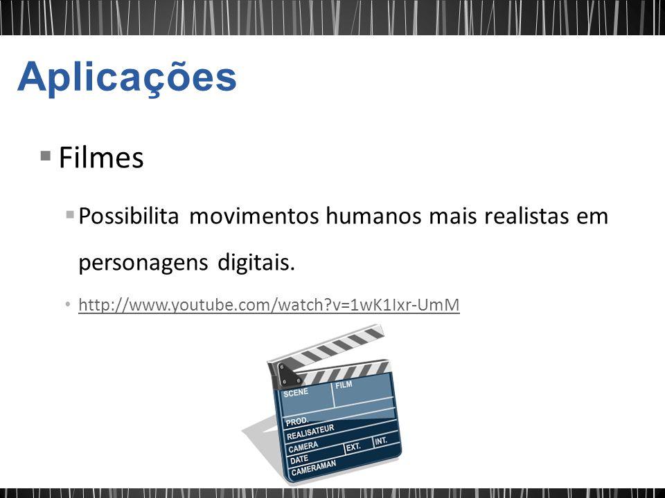 Filmes Possibilita movimentos humanos mais realistas em personagens digitais. http://www.youtube.com/watch?v=1wK1Ixr-UmM