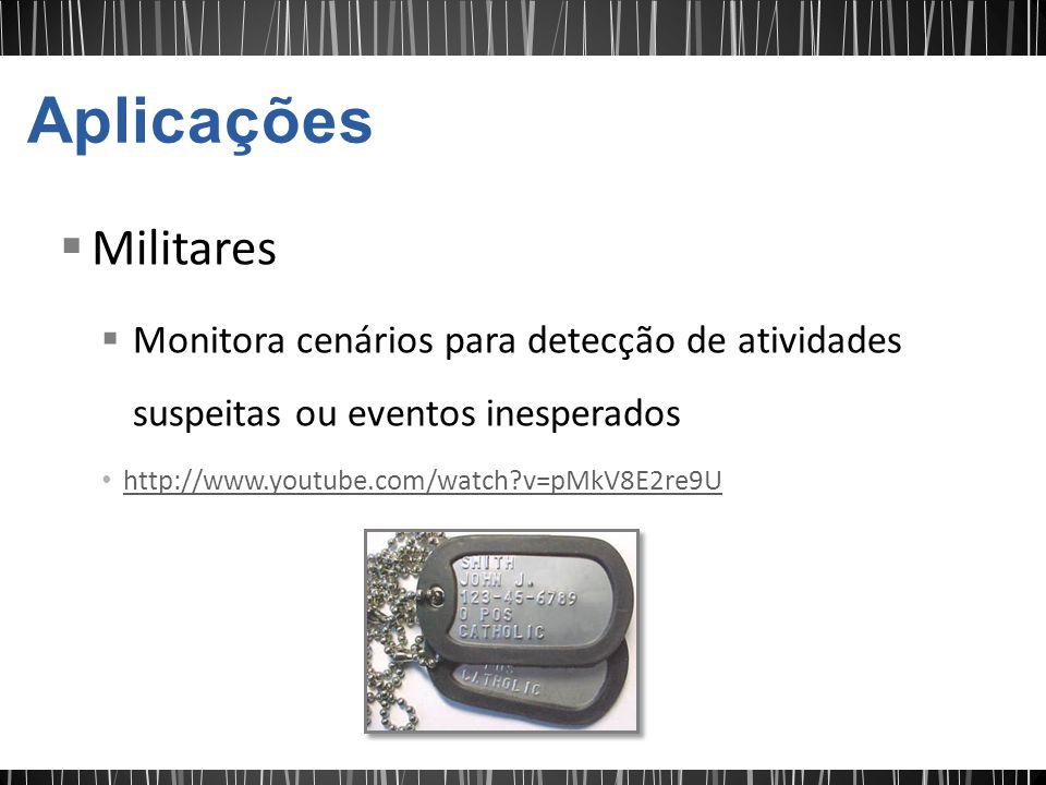 Militares Monitora cenários para detecção de atividades suspeitas ou eventos inesperados http://www.youtube.com/watch?v=pMkV8E2re9U