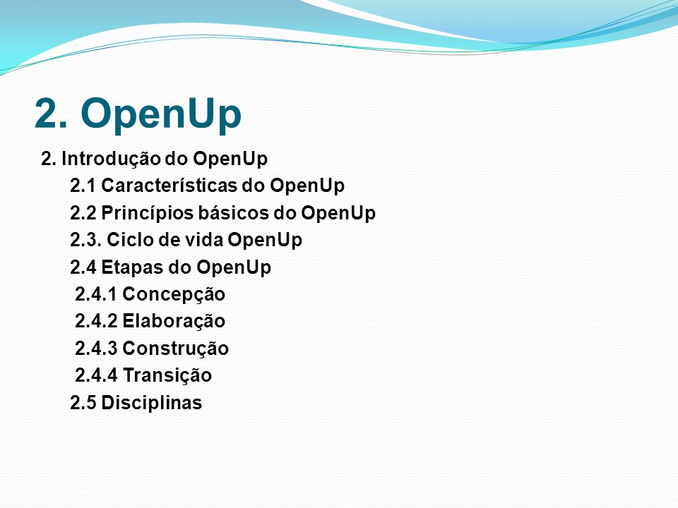 2.OpenUp 2.