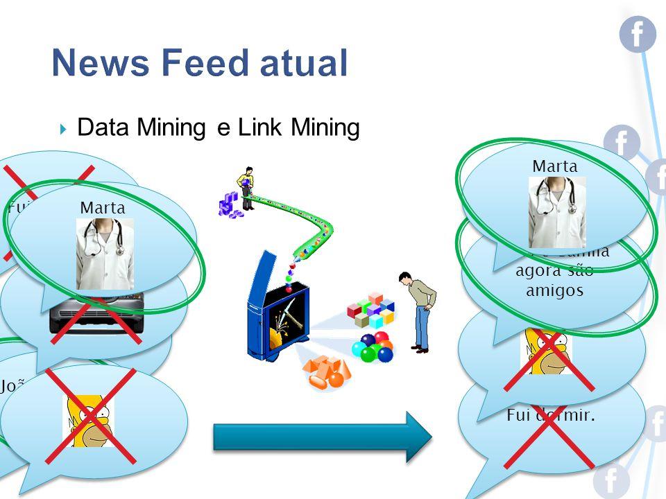 Fui dormir. João e Camila agora são amigos Data Mining e Link Mining Fui dormir.