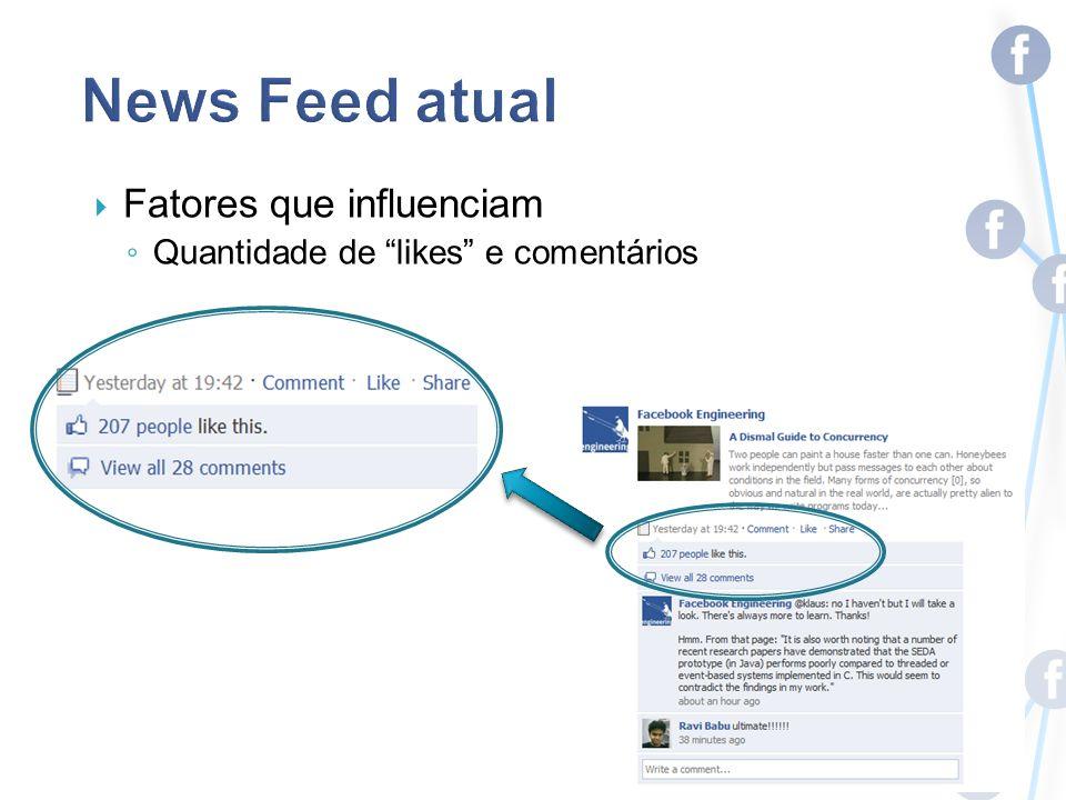 Fatores que influenciam Quantidade de likes e comentários