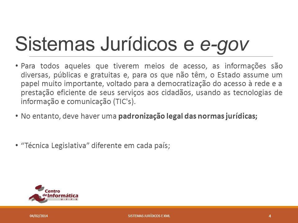 Sistemas Jurídicos e e-gov Para todos aqueles que tiverem meios de acesso, as informações são diversas, públicas e gratuitas e, para os que não têm, o