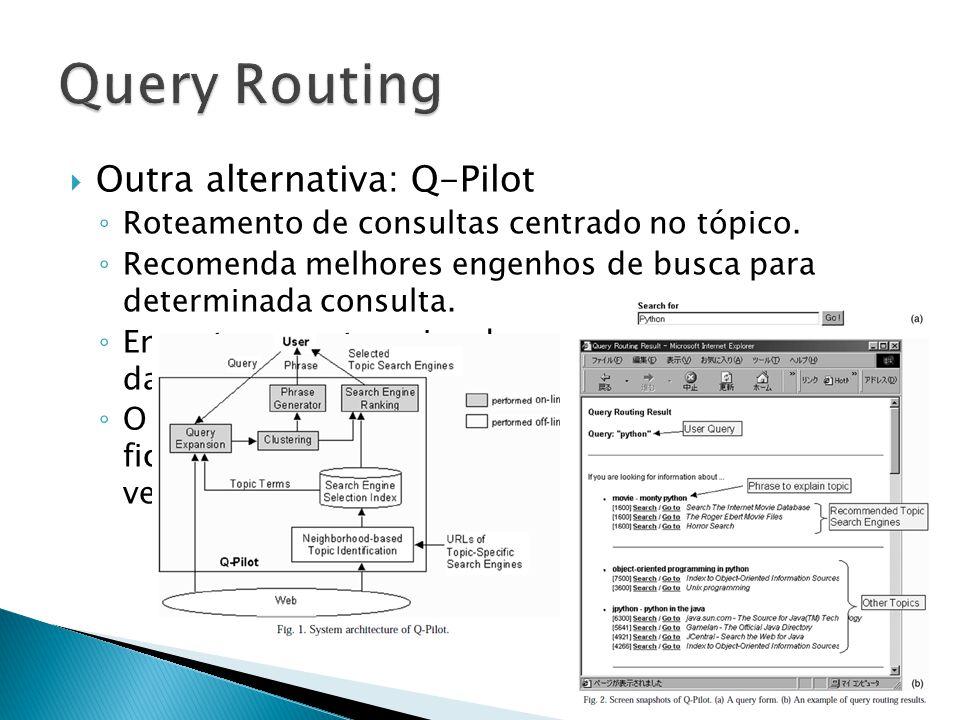Outra alternativa: Q-Pilot Roteamento de consultas centrado no tópico.