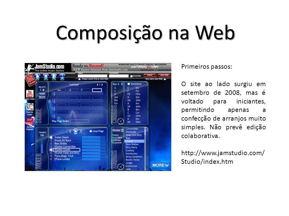 Primeiros passos: O site ao lado surgiu em setembro de 2008, mas é voltado para iniciantes, permitindo apenas a confecção de arranjos muito simples.