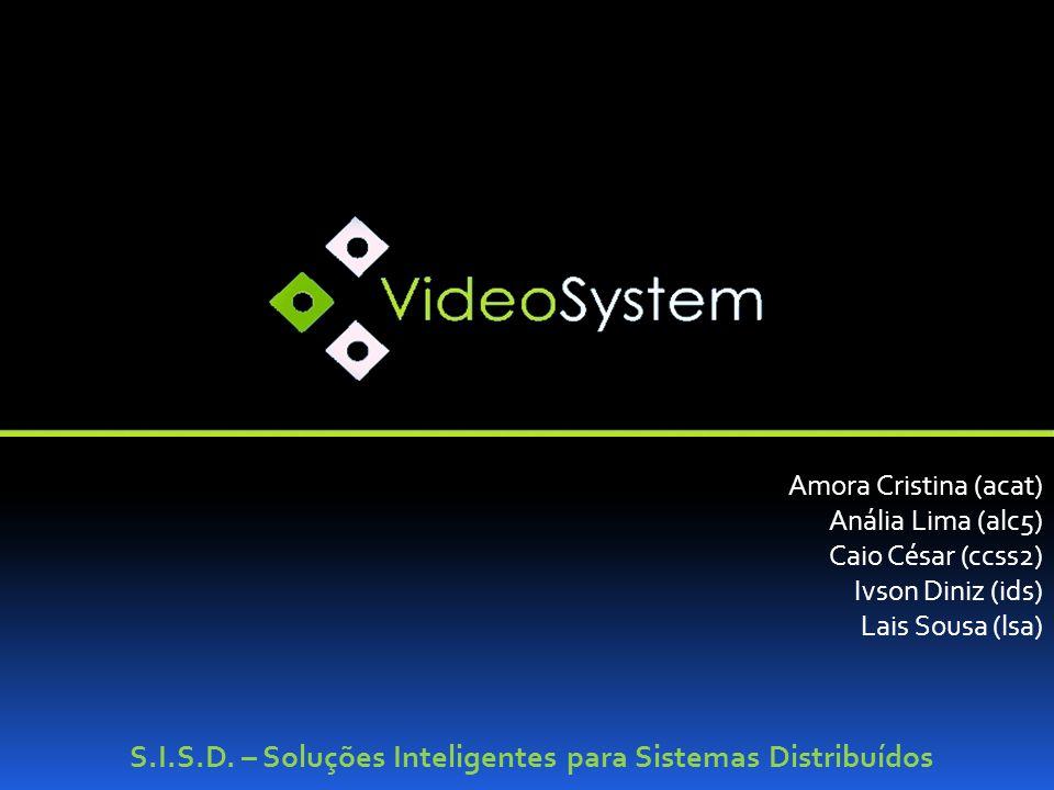 S.I.S.D. – Soluções Inteligentes para Sistemas Distribuídos Amora Cristina (acat) Anália Lima (alc5) Caio César (ccss2) Ivson Diniz (ids) Lais Sousa (