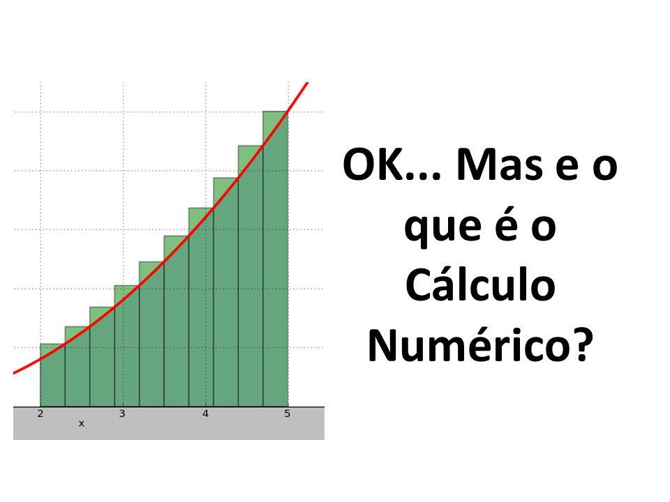 OK... Mas e o que é o Cálculo Numérico?