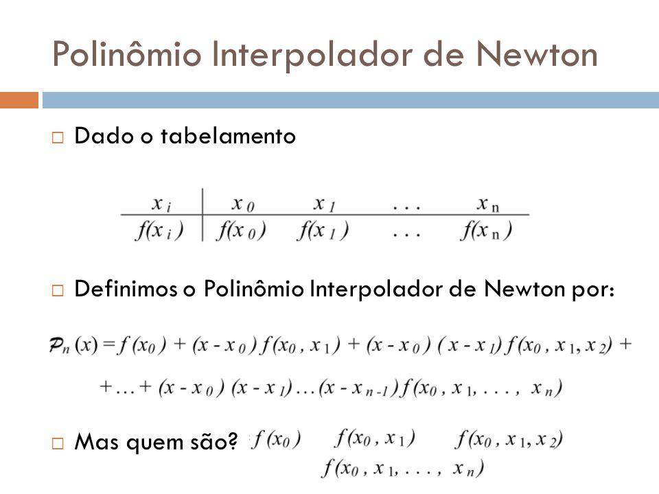 Diferença A diferença é um operador que serve de base para a definição do polinômio de Newton Temos duas formas mais comuns para a Diferença: Diferença Dividida Diferença Simples
