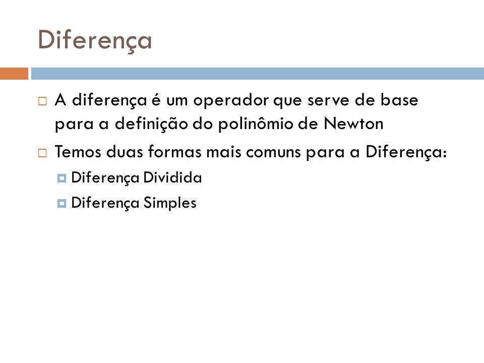 Propriedades das Diferenças (Prop. 2) Prova por indução: Para o caso n=1:
