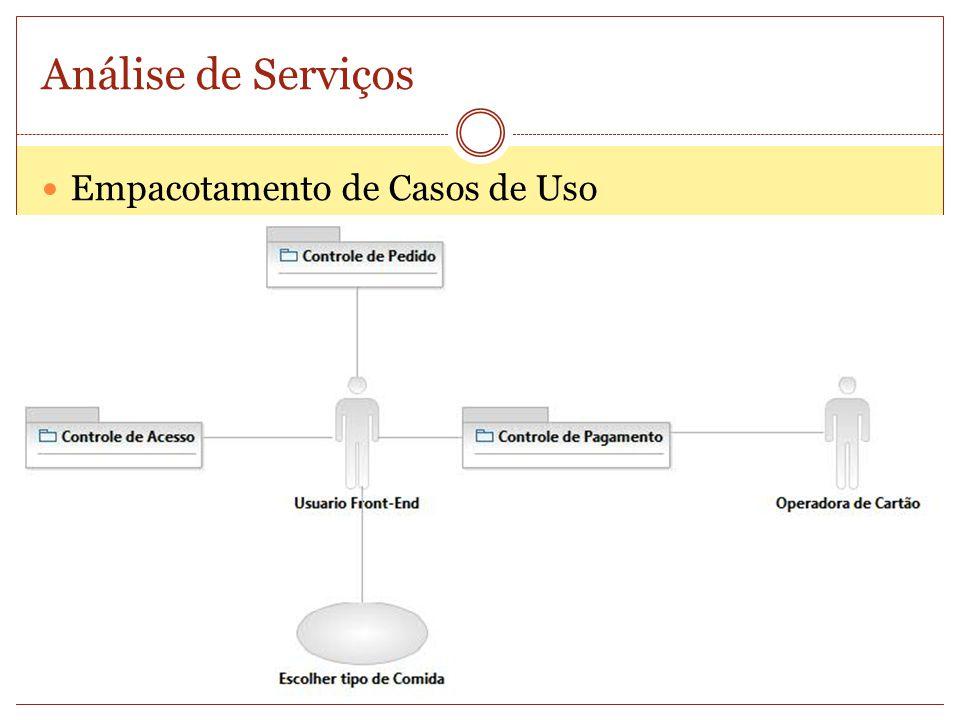 Análise de Serviços Empacotamento de Casos de Uso