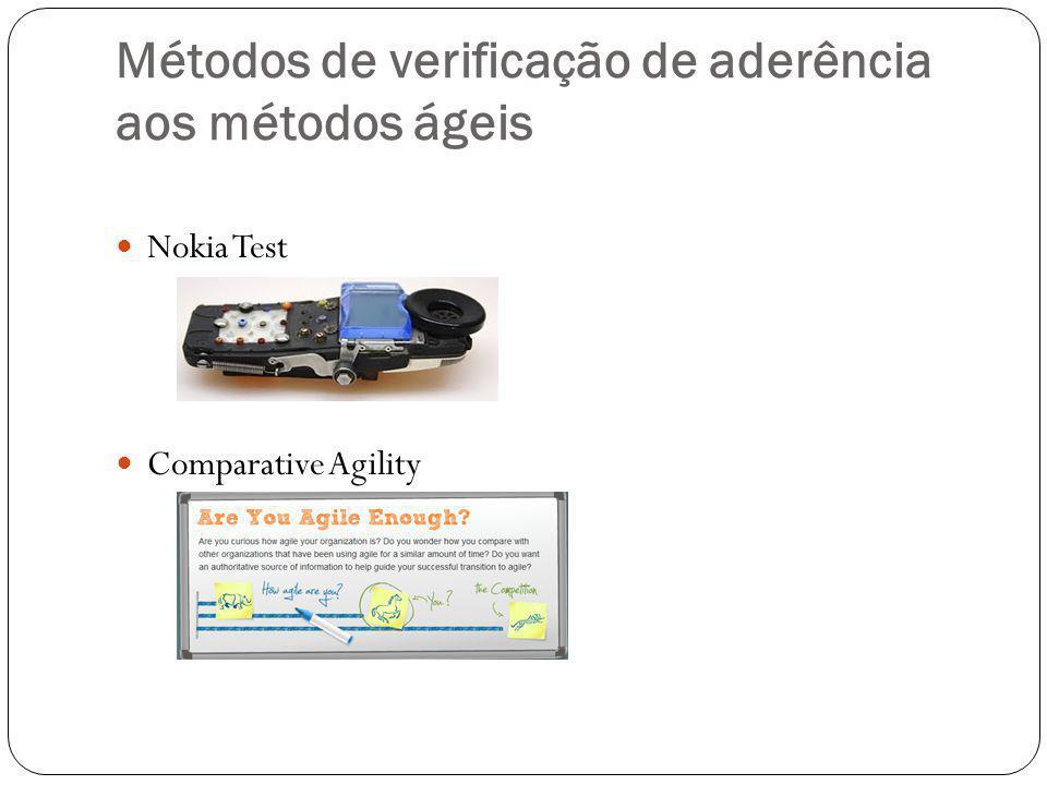 Métodos de verificação de aderência aos métodos ágeis Nokia Test Comparative Agility