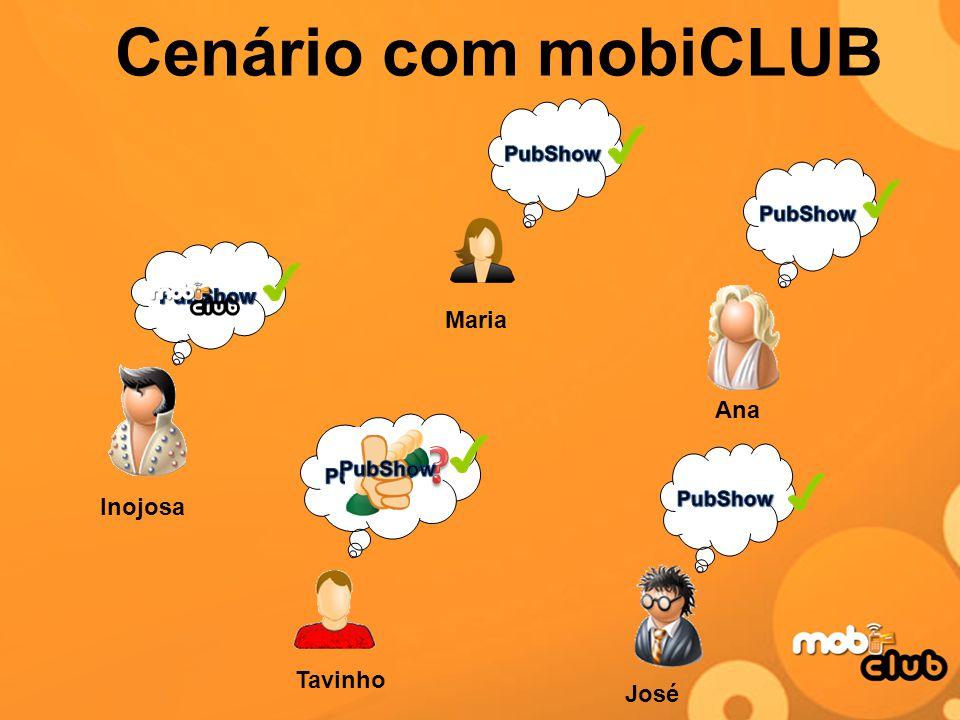 Cenário com mobiCLUB Tavinho Inojosa Maria Ana José