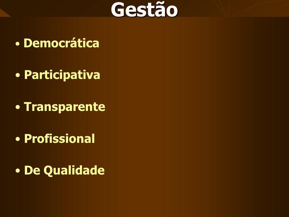 Democrática Participativa Transparente Profissional De Qualidade Gestão