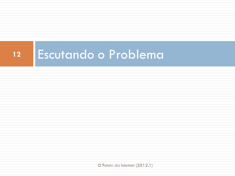 Escutando o Problema 12 O Futuro da Internet (2012.1)