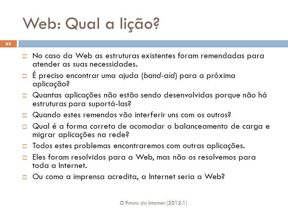 Web: Qual a lição.