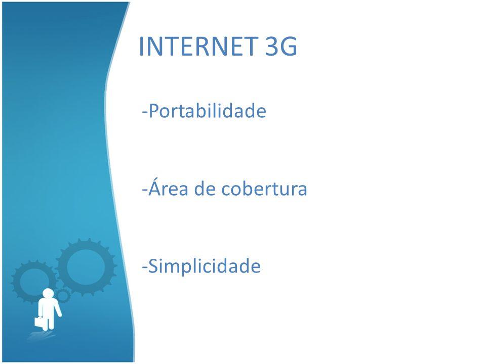 INTERNET 3G -Portabilidade -Área de cobertura -Simplicidade