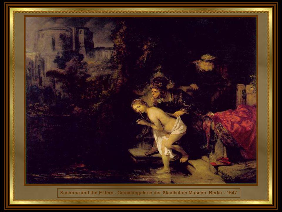 ULTIMA FASE A partir do desastre de 1657, a arte de Rembrandt adquire novas profundezas, alguns quadros surpreendendo pelo contraste de colorido e tensão dramática.