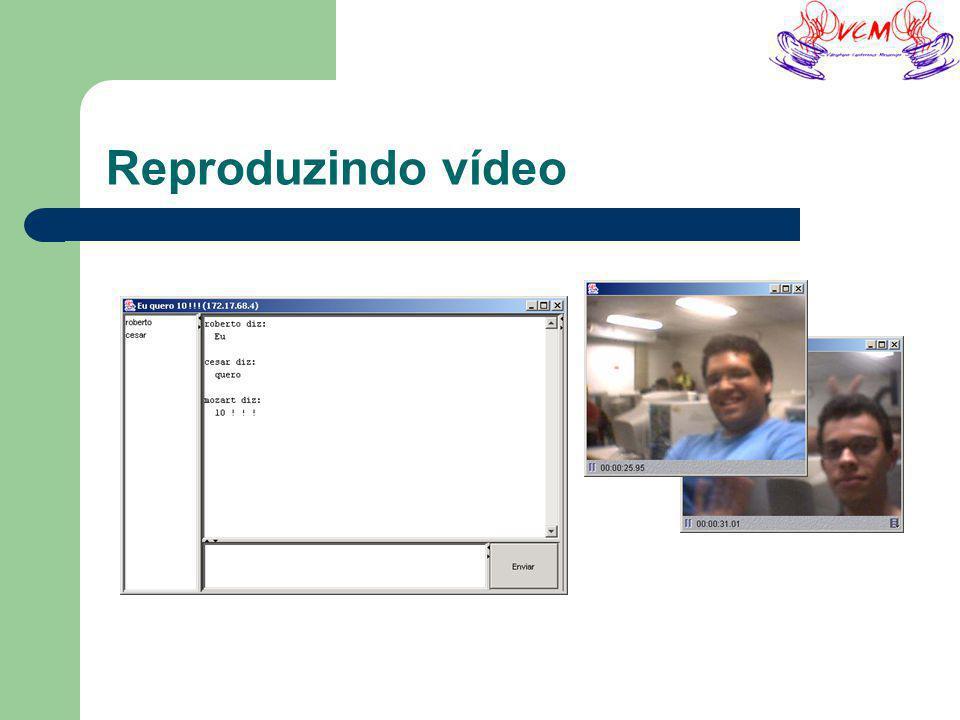 Reproduzindo vídeo