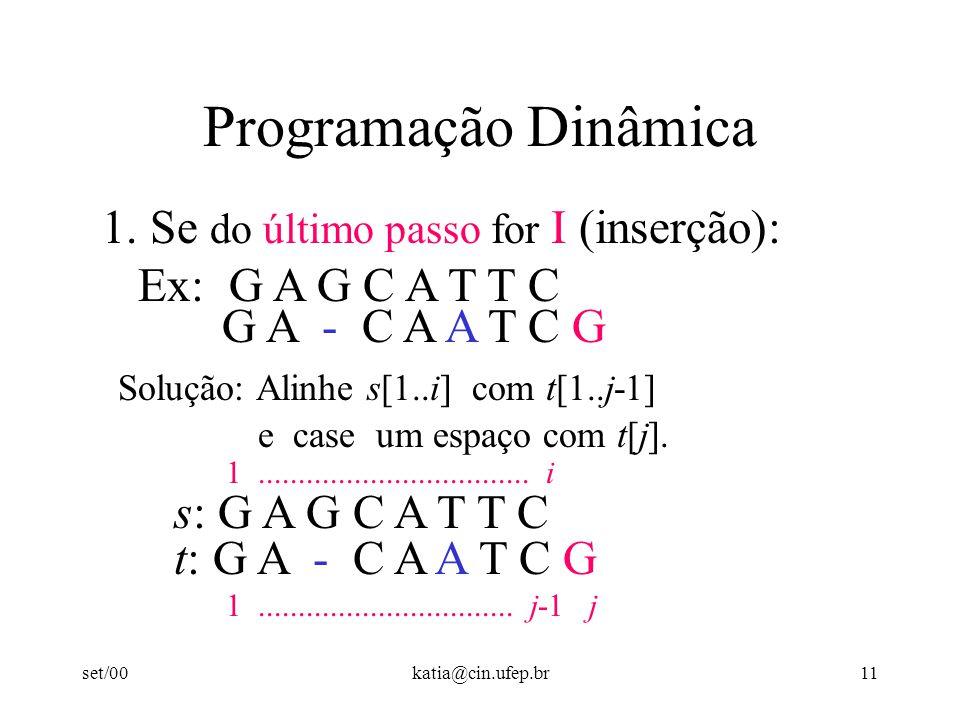 set/00katia@cin.ufep.br11 Programação Dinâmica 1.
